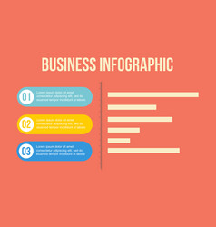 Graph element business concept infographic vector