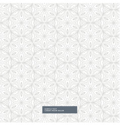 Gray floral style pattern background vector