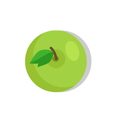 green apple isolated fruit vector image