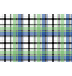 green blue check plaid pixel seamless pattern vector image