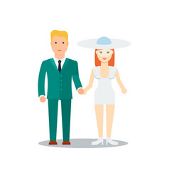 happy young just married icon vector image