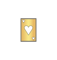 Hearts card computer symbol vector
