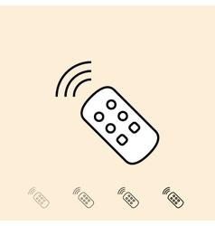 icon of remote control vector image