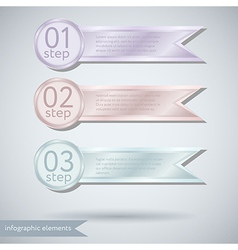 Infographic ribbon Concept vector image