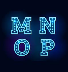 light font alphabet text bright vector image