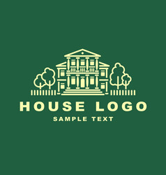 logo emblem with house vector image