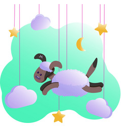 Metric with dog - posters for baby room greeting vector