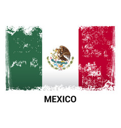mexico flag design vector image