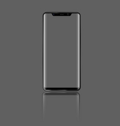 Modern smartphone with front view and transparent vector