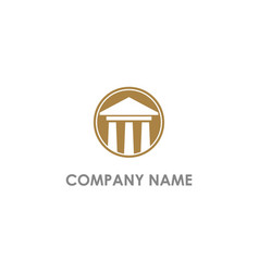 Old building court law logo vector
