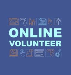 online volunteer word concepts banner vector image