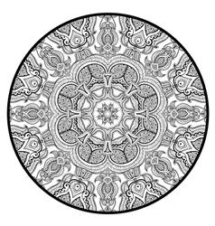 Ornamental round lace pattern like mandala vector image