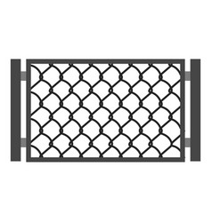 Perforated gate icon cartoon style vector