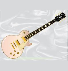Pink blues guitar vector