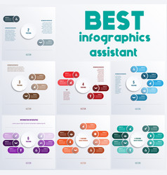 process chart templates for presentation 2 4 5 6 vector image