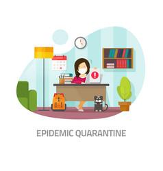 Quarantine epidemic risk concept or home isolation vector
