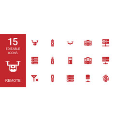 remote icons vector image