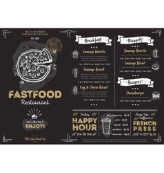 Restaurant cafe fast food menu template vector