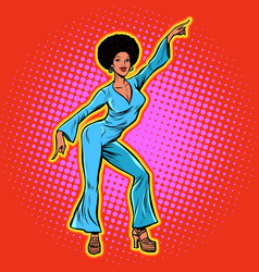 retro african disco dance vector image