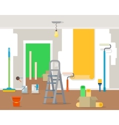 Room repair in home vector image