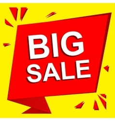 Sale poster with BIG SALE text Advertising vector