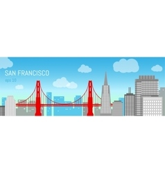 San Francisco flat Day view vector