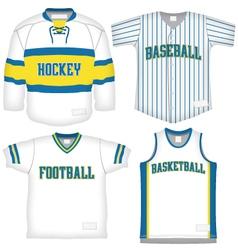 set sports uniforms vector image