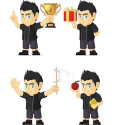 Spiky Rocker Boy Customizable Mascot vector image