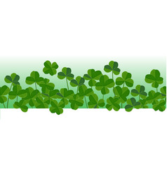 st patricks day horizontal seamless background vector image
