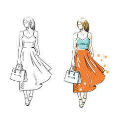 Summer look fashion vector