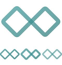 Teal line infinite logo design set vector