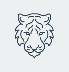 tiger logo icon design vector image