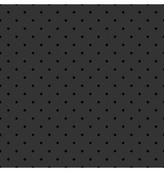 Tile pattern black polka dots on grey background vector