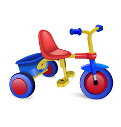 Tricycle icon realistic style vector