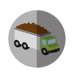 Truck vehicle isometric icon vector