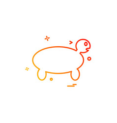 turtle icon design vector image