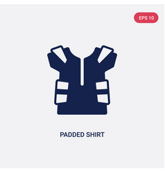 two color padded shirt icon from american vector image