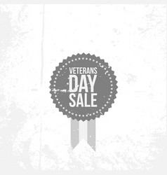vintage banner with veterans day sale text vector image
