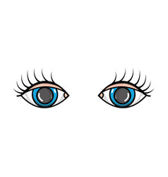 Vision eyes with eyelashes style design vector