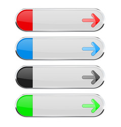 white oval buttons with colored arrows menu vector image