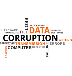 Word cloud - data corruption vector