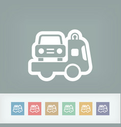 Wrecker icon vector