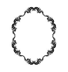 floral ornament scrolls frame element vector image