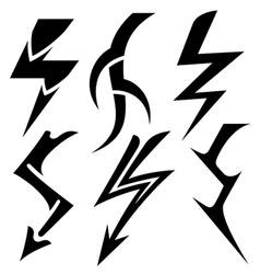 lightning vector image vector image