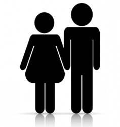 male/female love symbol vector image vector image