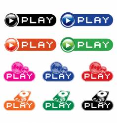 play icons vector image vector image