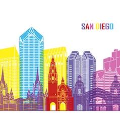 San Diego skyline pop vector image vector image