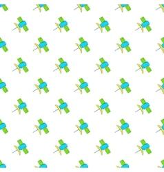 Satellite pattern cartoon style vector image