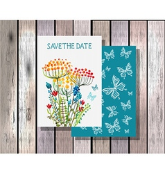 Save the date invitation template vector image vector image