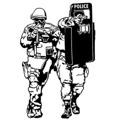 Special Police Forces vector image